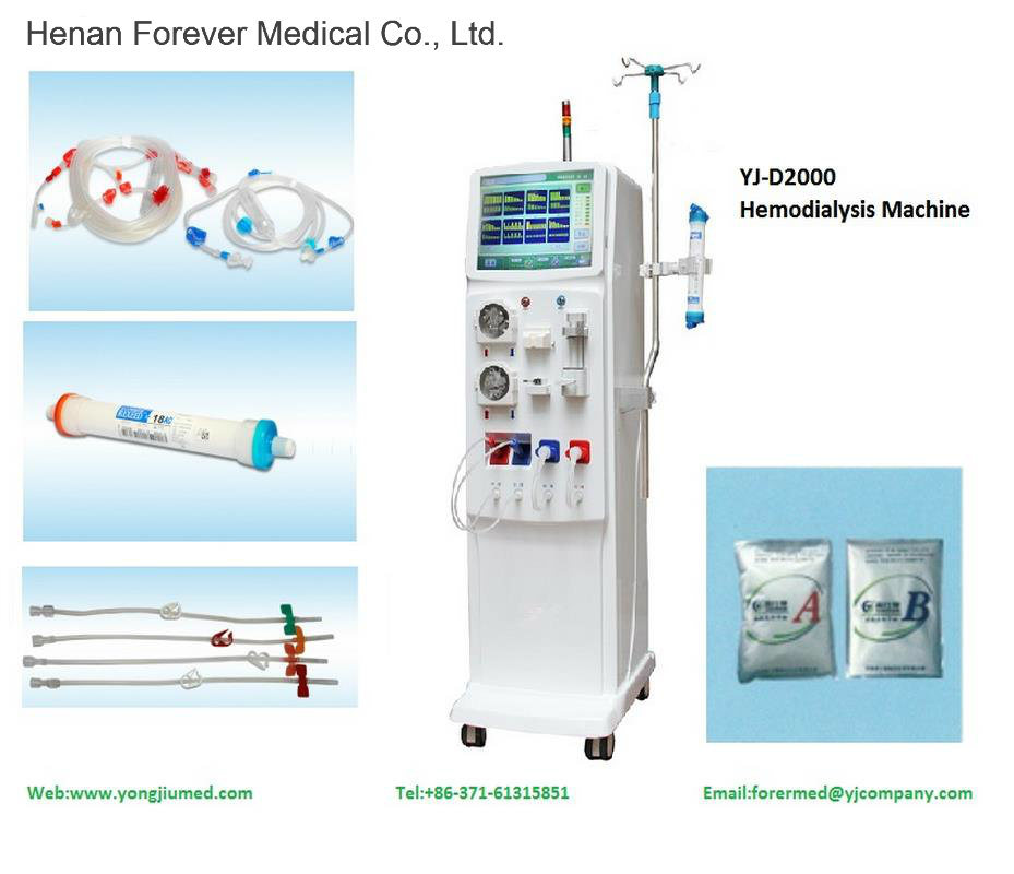 Hemodialysis Machine Yj-D2000 (Double Pump LCD Touch Screen)