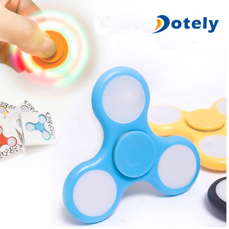 LED Glow Fidget Focus Spinner Toy for Stress Relief
