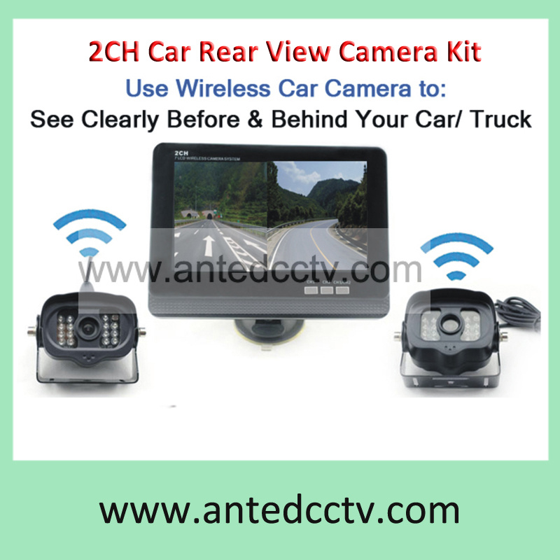 2 Channel Wireless Vehicle Car Truck Rearview Backup Camera System