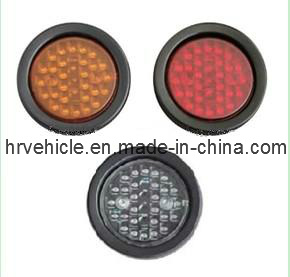 4′′ Round LED Tail Light for Truck and Trailer