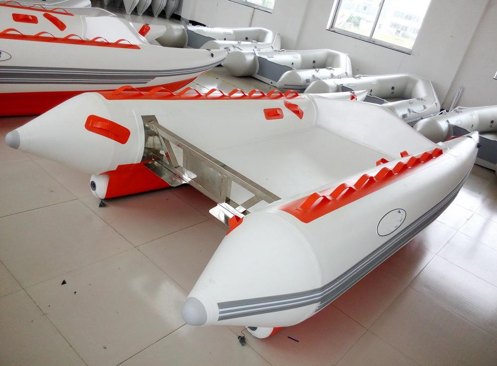 High Speed Catamaran (3.8m, aluminum floor)