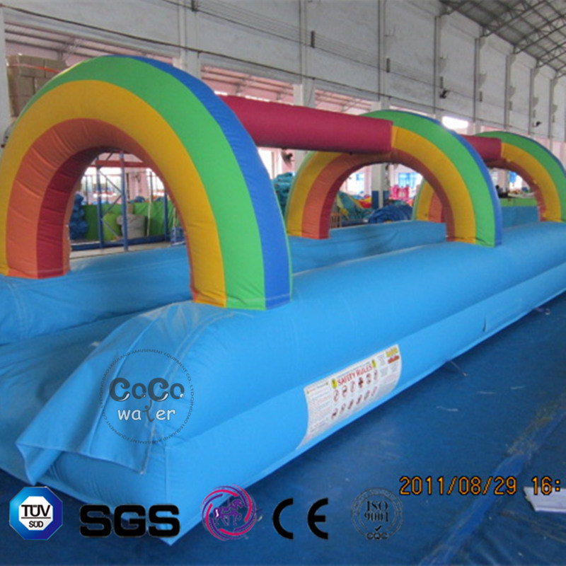 Coco Water Design Inflatable Rainbow Theme Water Slide LG9055