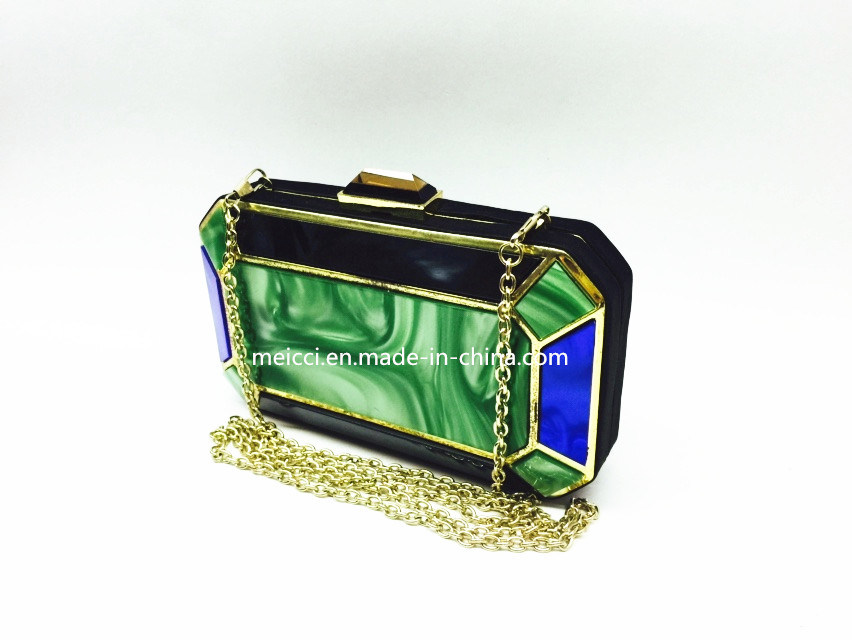 Acrylic Fashion Clutch Bag Ladies Evening Bag