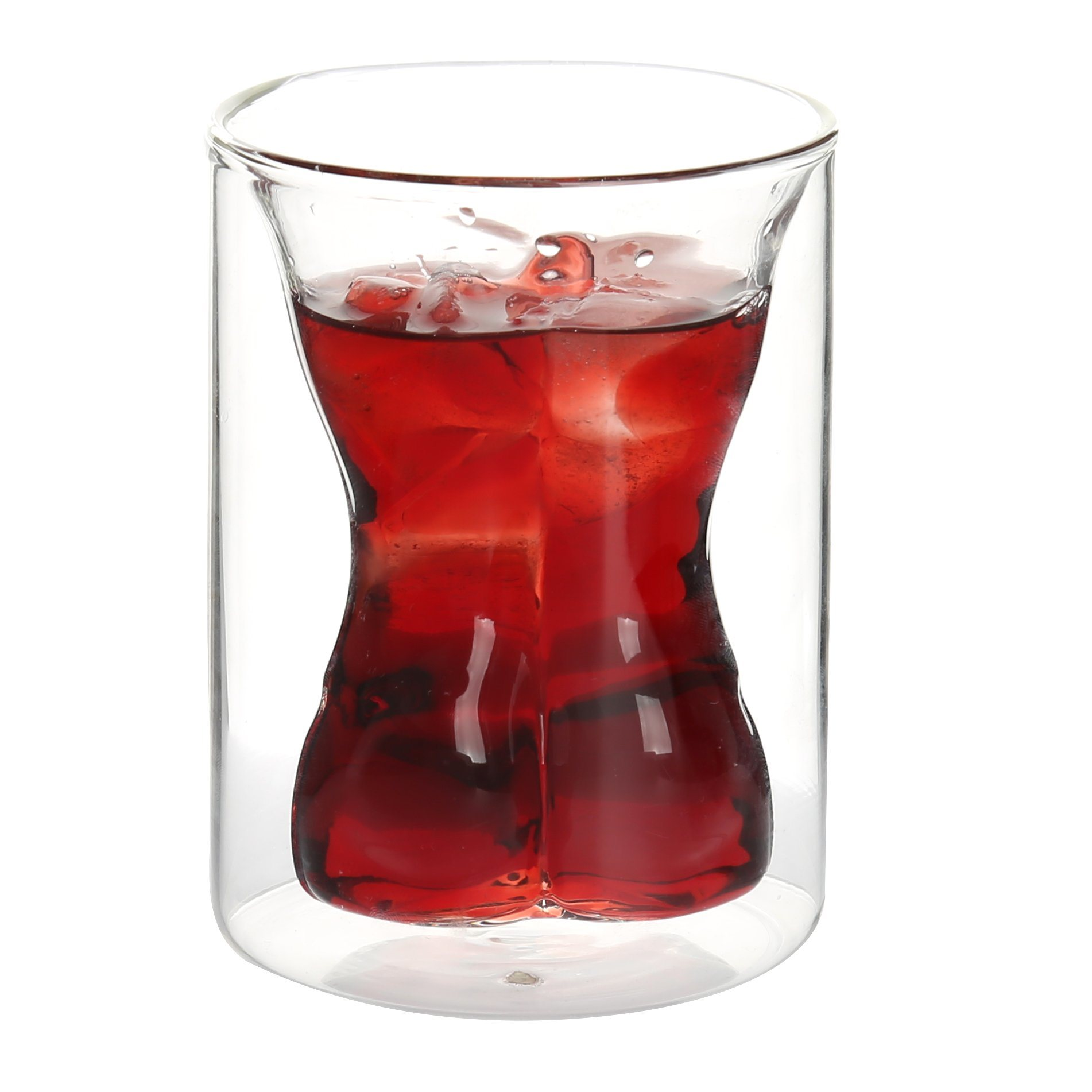 Wholesale Double Wall Couple Shot Drinking Glass Cup