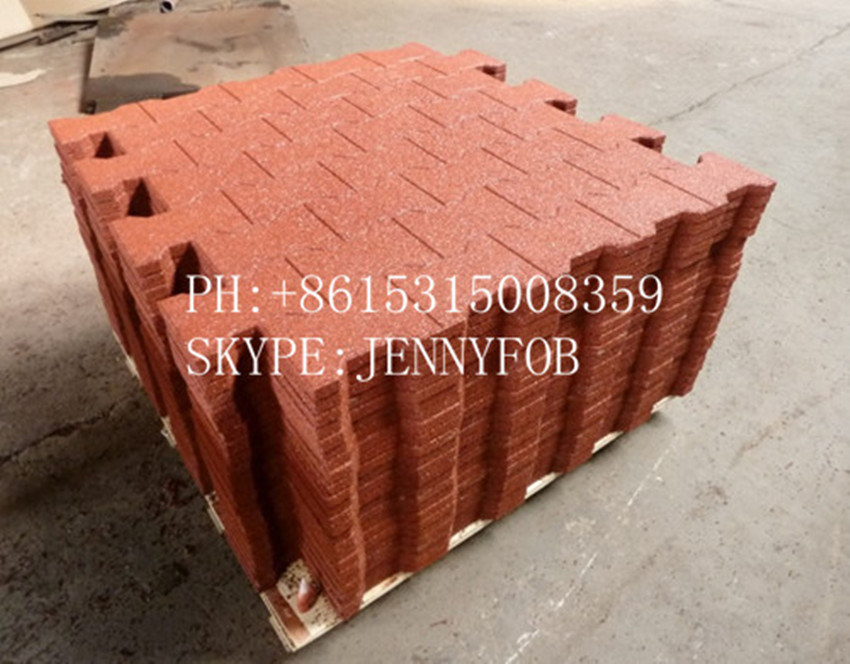 China New Interlocking Rubber Tiles Recycled Rubber Floor