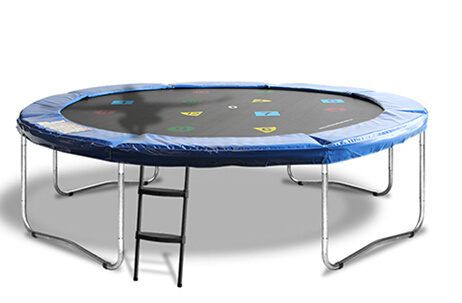 10FT Round Trampoline 4 Legs Without Enclosure Net