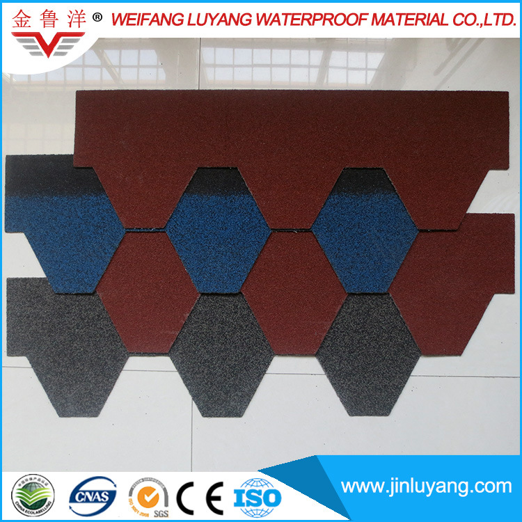 Factory Direct Sale Top Quality Colorful Asphalt Roofing Shingle for Log Cabin