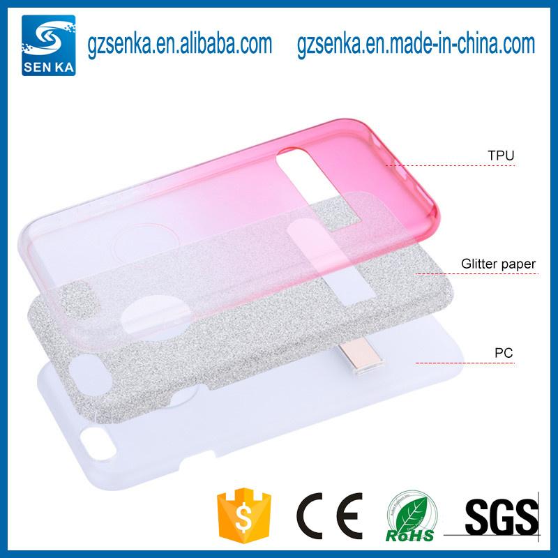 Sotf TPU Glitter Phone Stander Case for iPhone 7