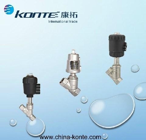 Stainless Steel Pneumatic Angle Piston Valve /Angle Seat Valve