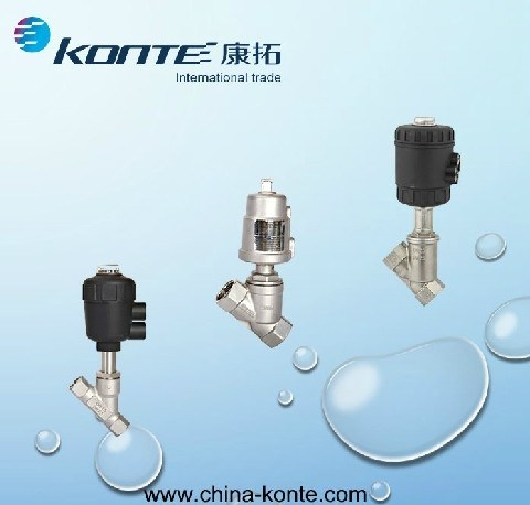 Stainless Steel Pneumatic Angle Piston Valve and Angle Seat Valve