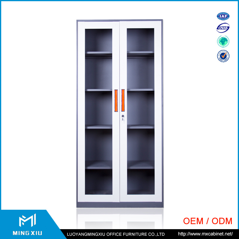 China Mingxiu Office Narrow Edge 2 Door Steel Swing Door Filing Cabinet / File Cabinet