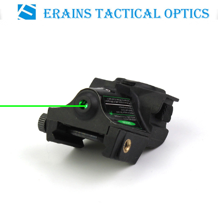 New Updated Tactical Sub Compact Rechargeable Quick Push on off Switch Pistol Green Laser Sight