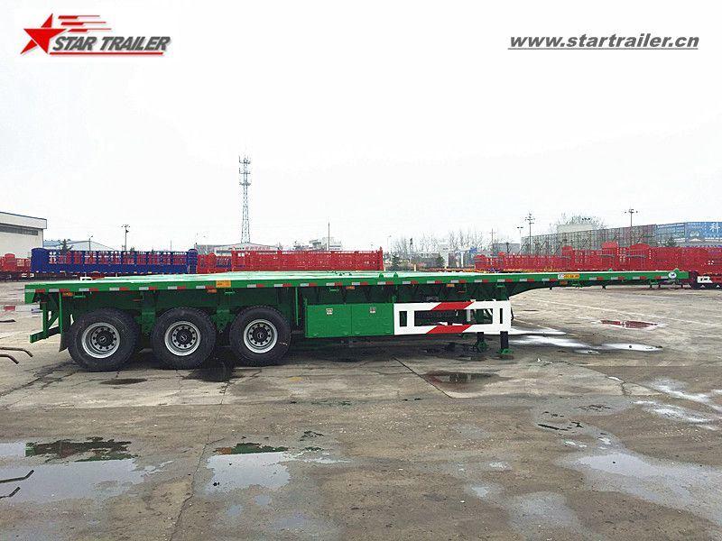 3axles Platform Cargo Trailer for Truck