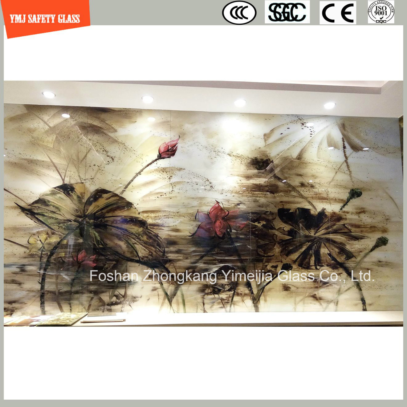 4-19mm Digital Painting Tempered Glass for Home Decoration
