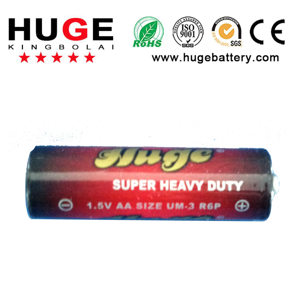 1.5V power AA size Carbon Zinc dry cell Battery R6 Um-3