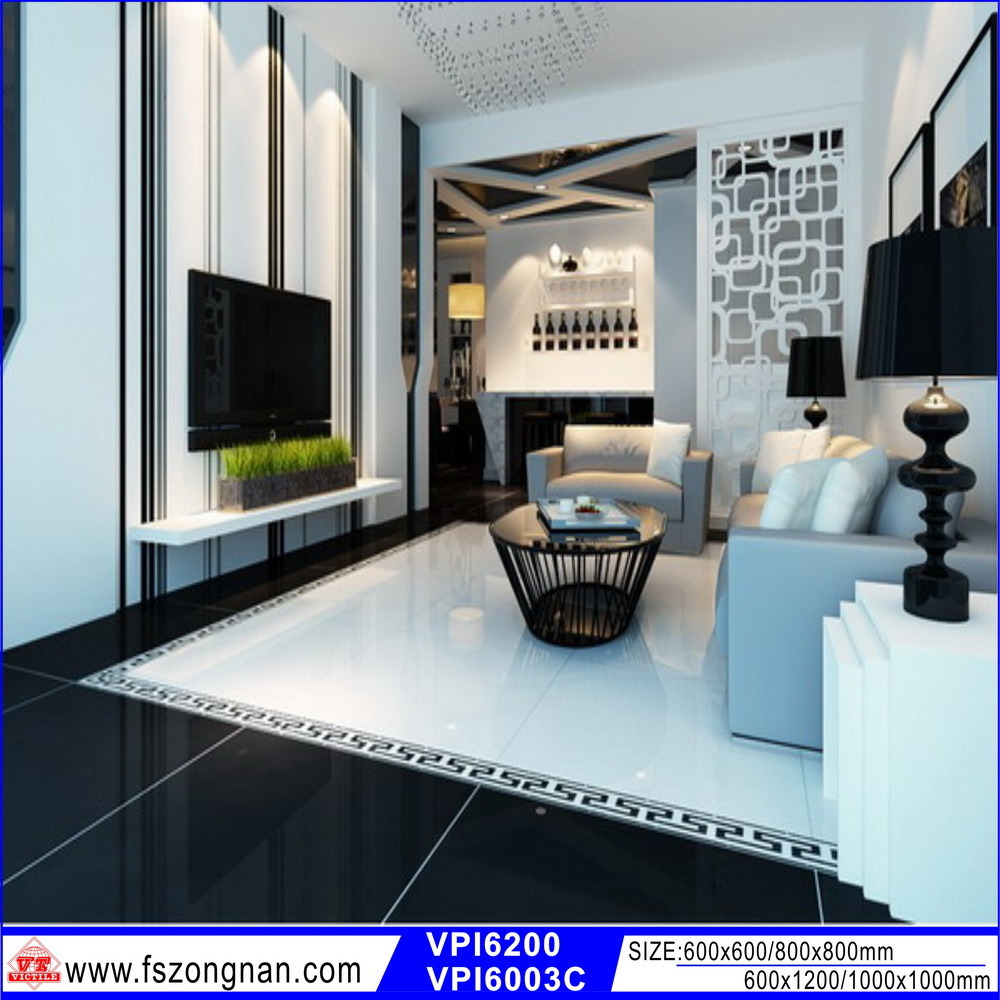 Black porcelain floor tiles 600x600