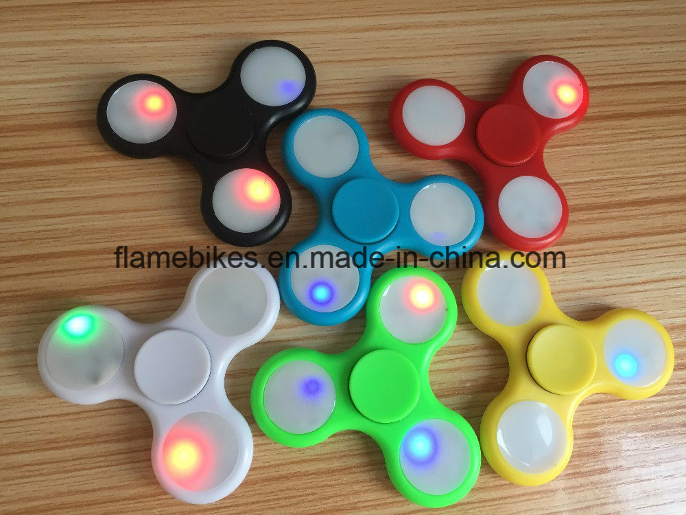 LED Tri Spinner Fidget Toy with 608 Bearing.