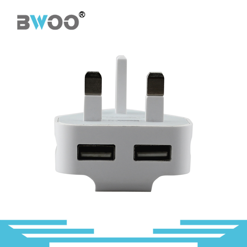 The Newest Dual USB Travel Charger with UK Plug