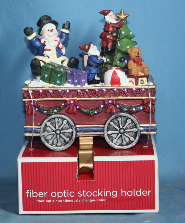 china 6 stocking holder of christmas train with fiber