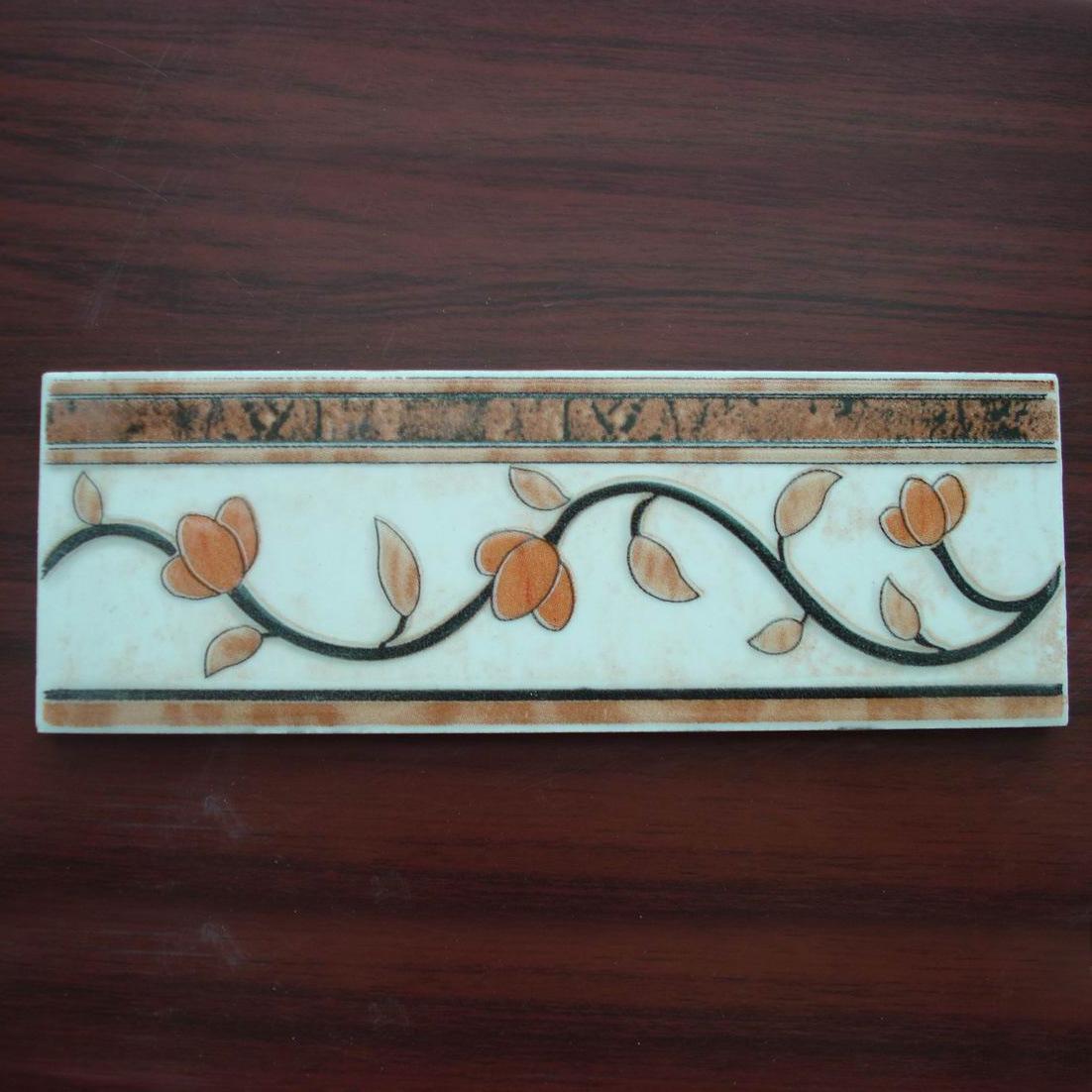 Ceramic tile border