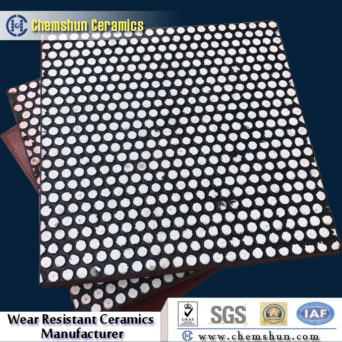 Abrasion Resistant Composite Rubber Ceramic Wear Liner for Ductwork