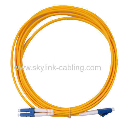 low loss LC/UPC-LC/UPC sm dx 3.0mm optical fiber patch cord