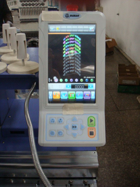 Compact Desktop Single Head Embroidery Machine