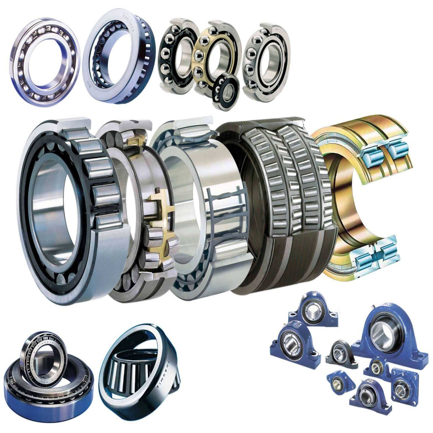 Agricultural Pillow Block Bearing Series Deep Groove Ball Bearing with Housing Fits Ball Bearing Units (UC UCF UCF)