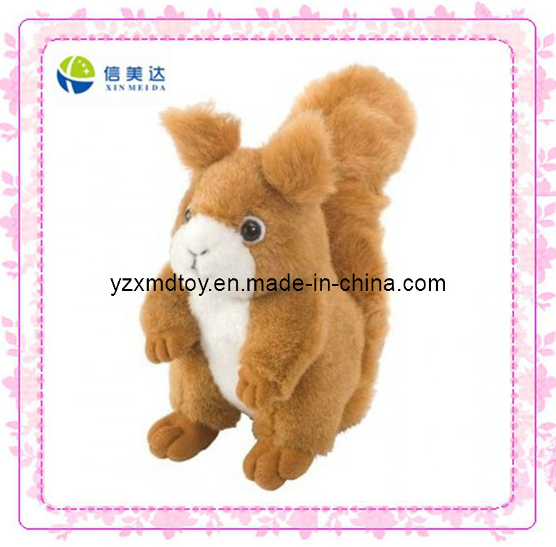 Plush Squirrel Singing Soft Toy (XMD-0055C)