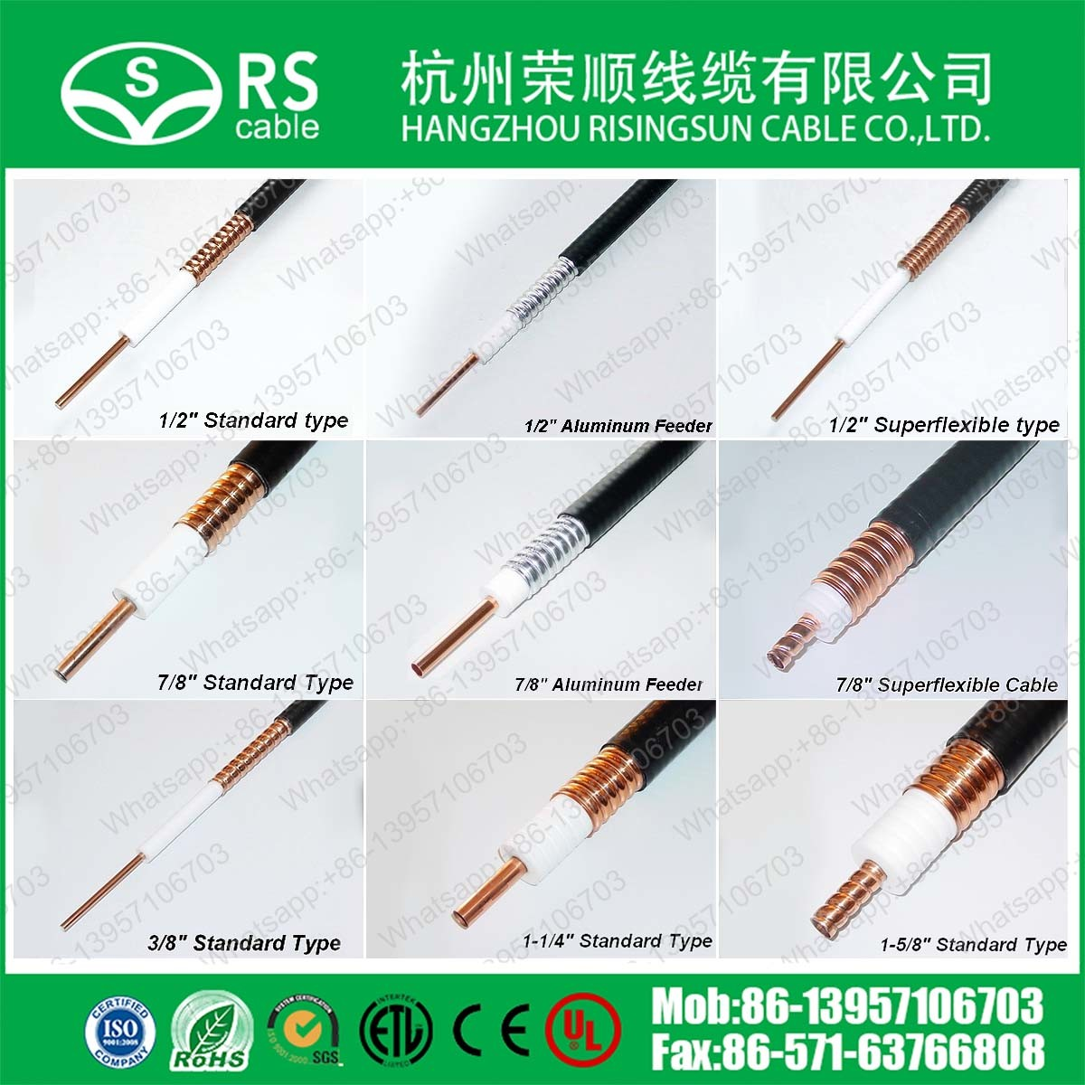 """3/8"""" Corrugated RF Leaky Feeder Cable Heliax Coax Cable"""