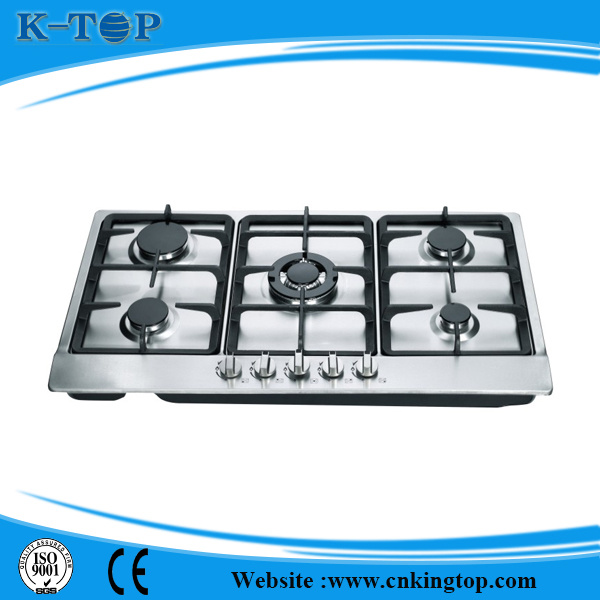 Best Quality Built-in 5 Burner S/S Gas Hob, Gas Cooker