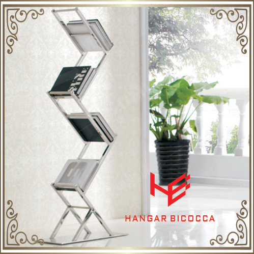 Home Shelf (RS162101) Bookcase Bookshelf Storage Shelf File Shelf Flower Shelf Book Rack Stainless Steel Furniture