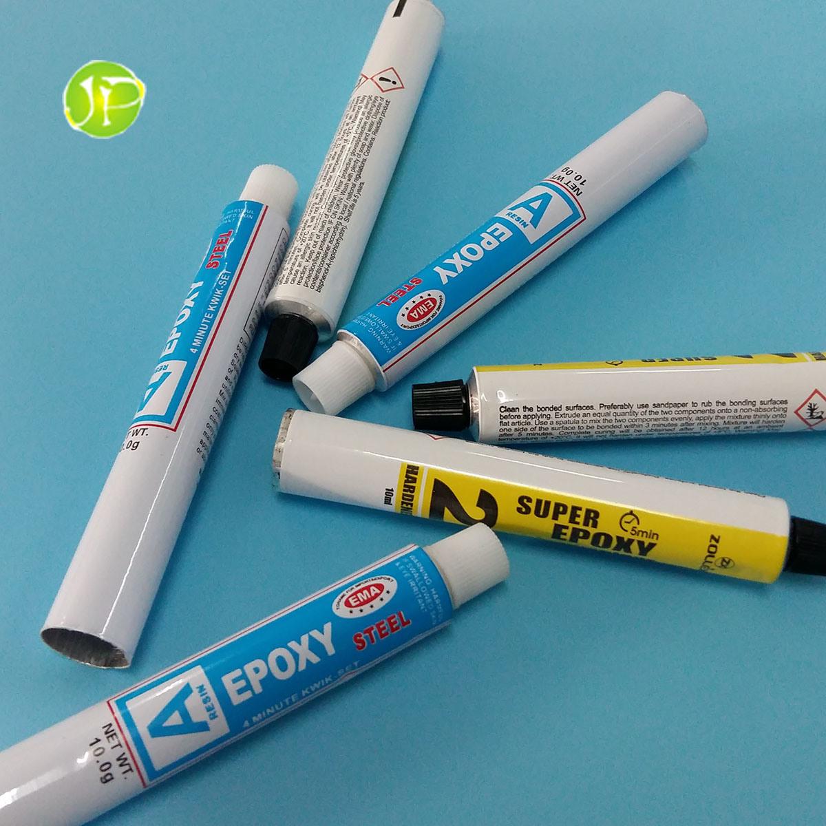 Epoxy Glue Tubes Aluminum Collapsible Tubes Adhesive Tubes Packing Tubes