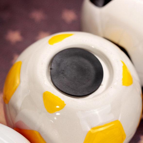 Football Fans Ball Shape Piggy Bank Money Box Sports Charm Soccer Ball Ceramics