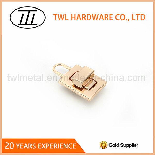 Lock Shaped Rectangle Thin Bags Turn Lock Hardware