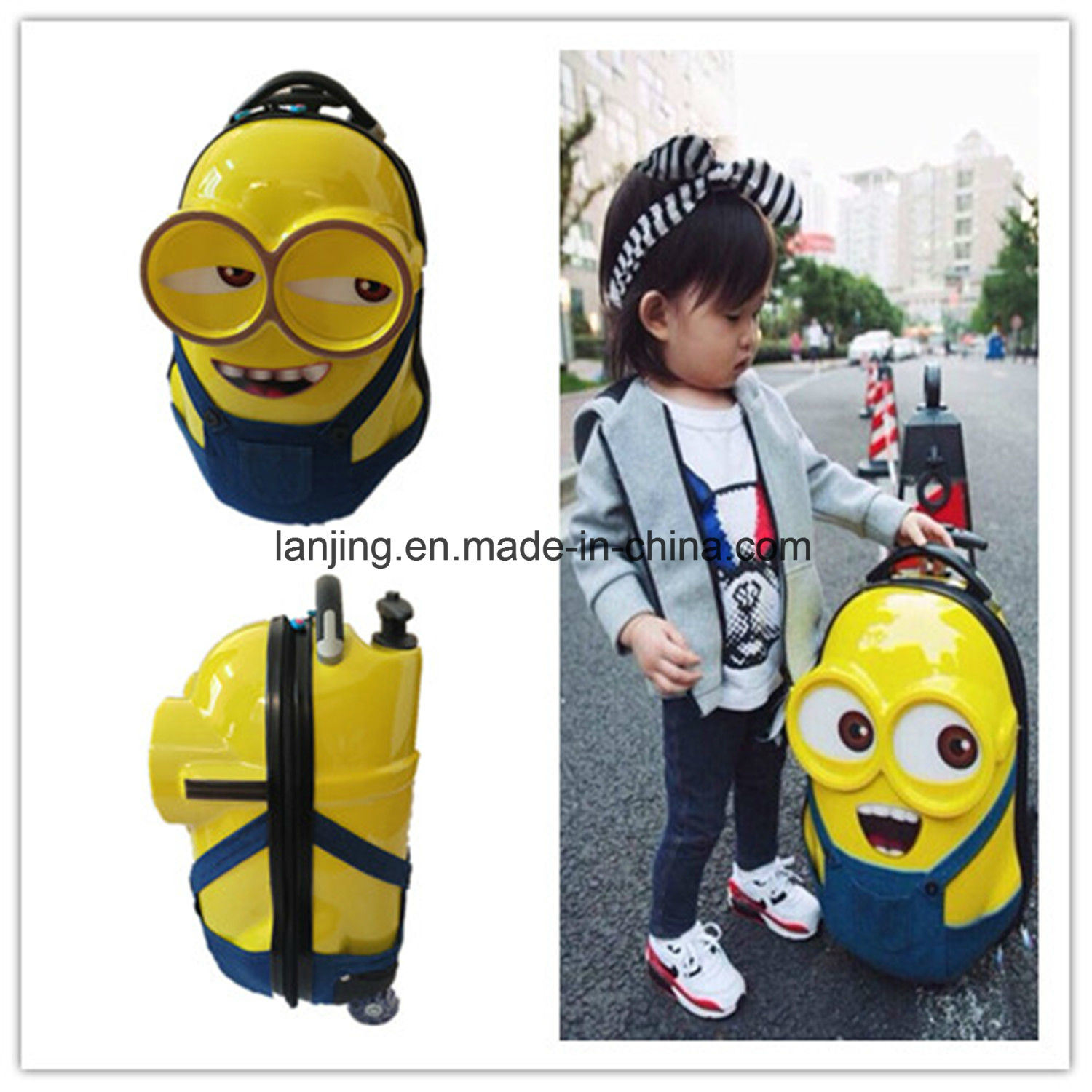 Bw253 2017 Hot Sale High Quality Minions ABS+PC Children Luggage