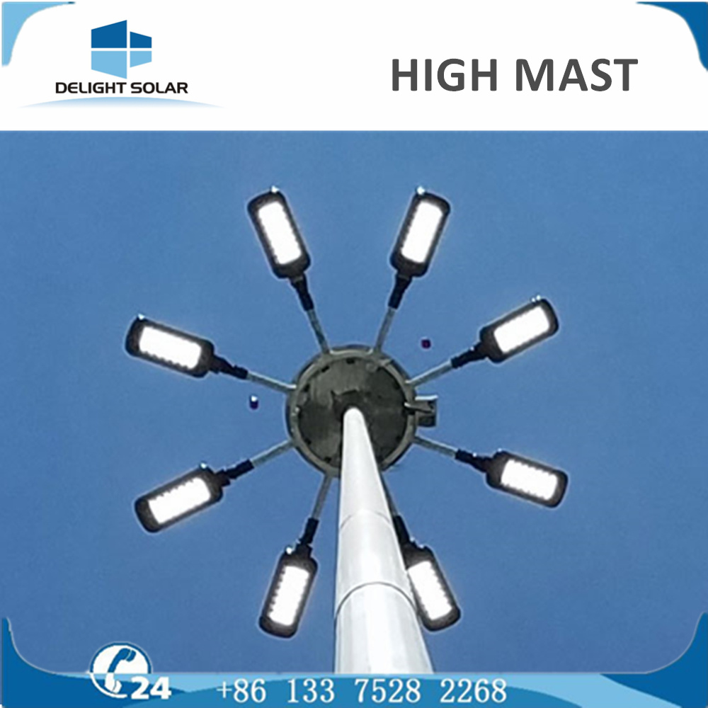 1000W 18m/20m/30m HPS Elevator System Polygonal Round High Mast Lamp