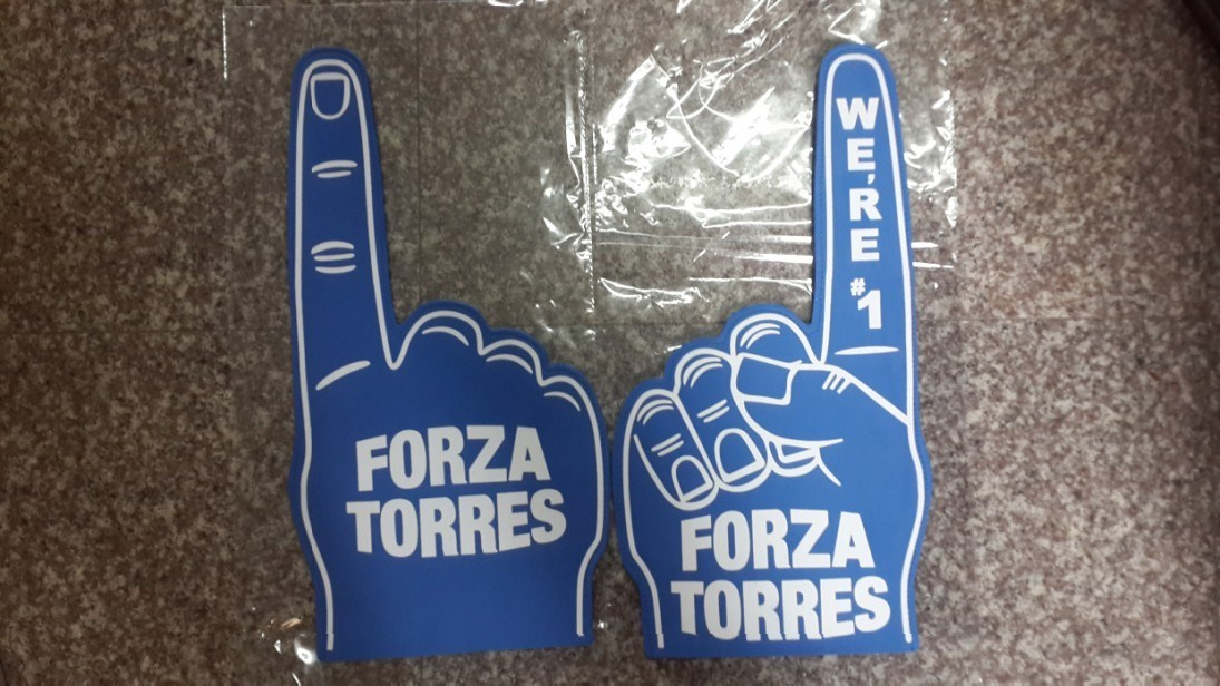 One Finger Foam Hand with Printing Customer′s Logo