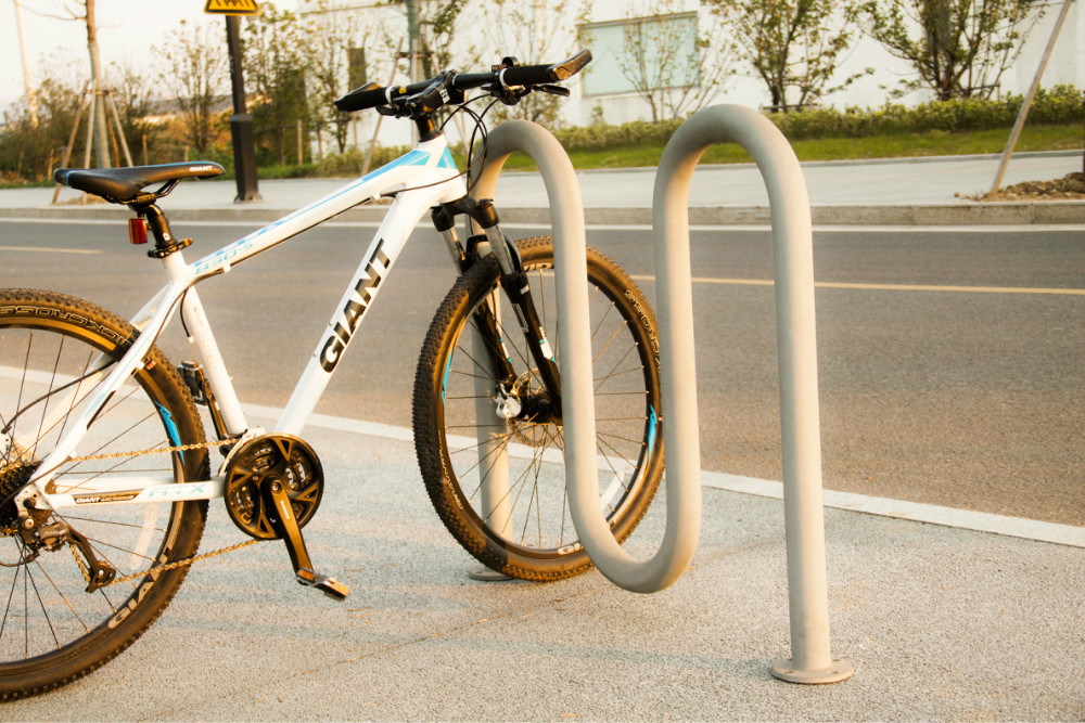 Hot-Dipped Powder Coated Wave Bike Vehicle Parking Rack