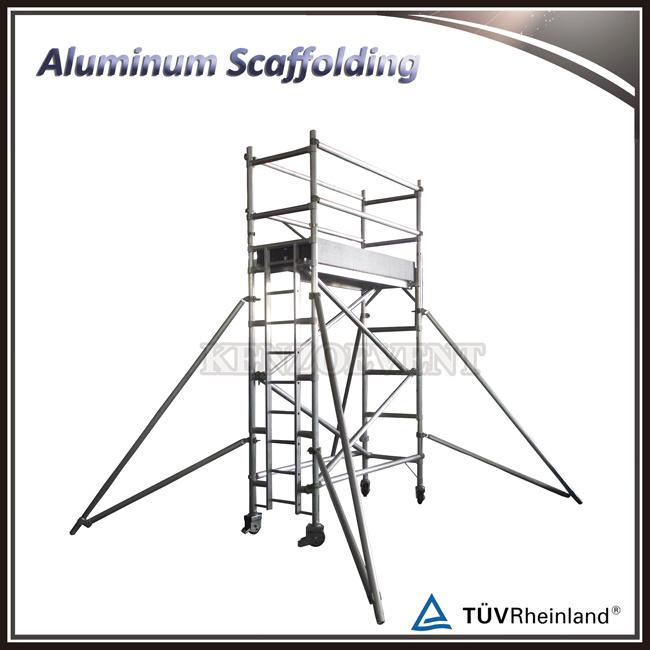 Indoor Single Width Aluminum Ladder Frame Scaffolding