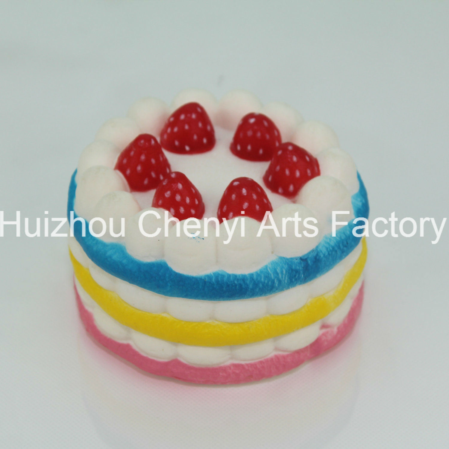 OEM Slow Rebound Colorful Food Shape PU Foam Cake