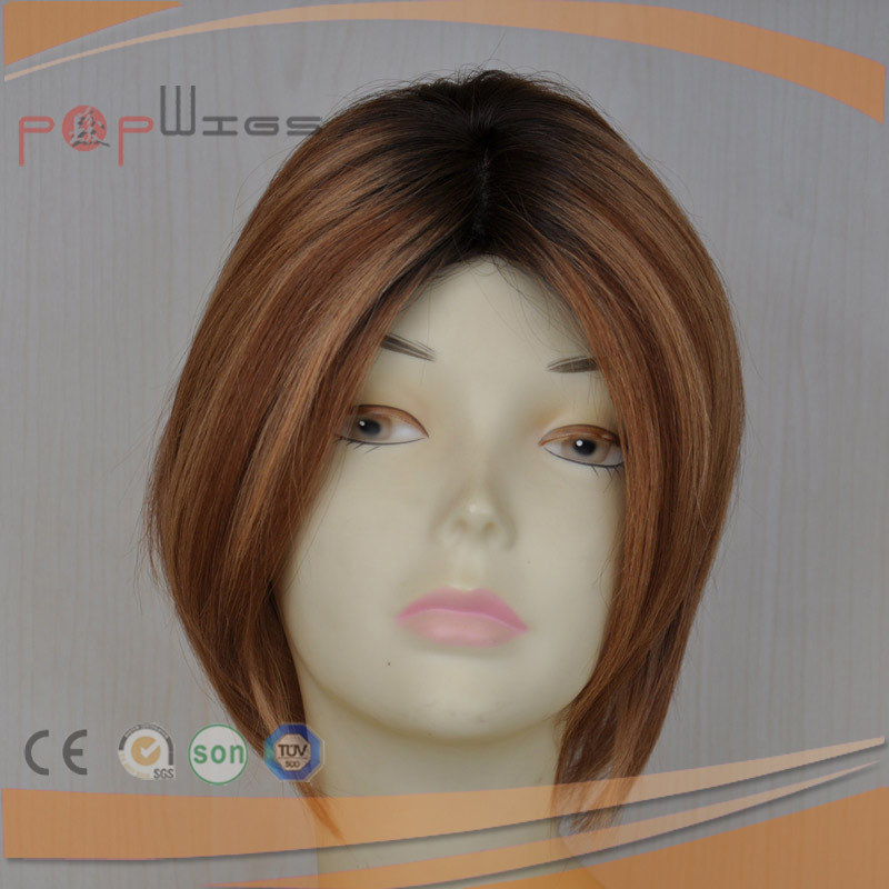 Bob Style Human Hair Silk Top Beautiful Wig
