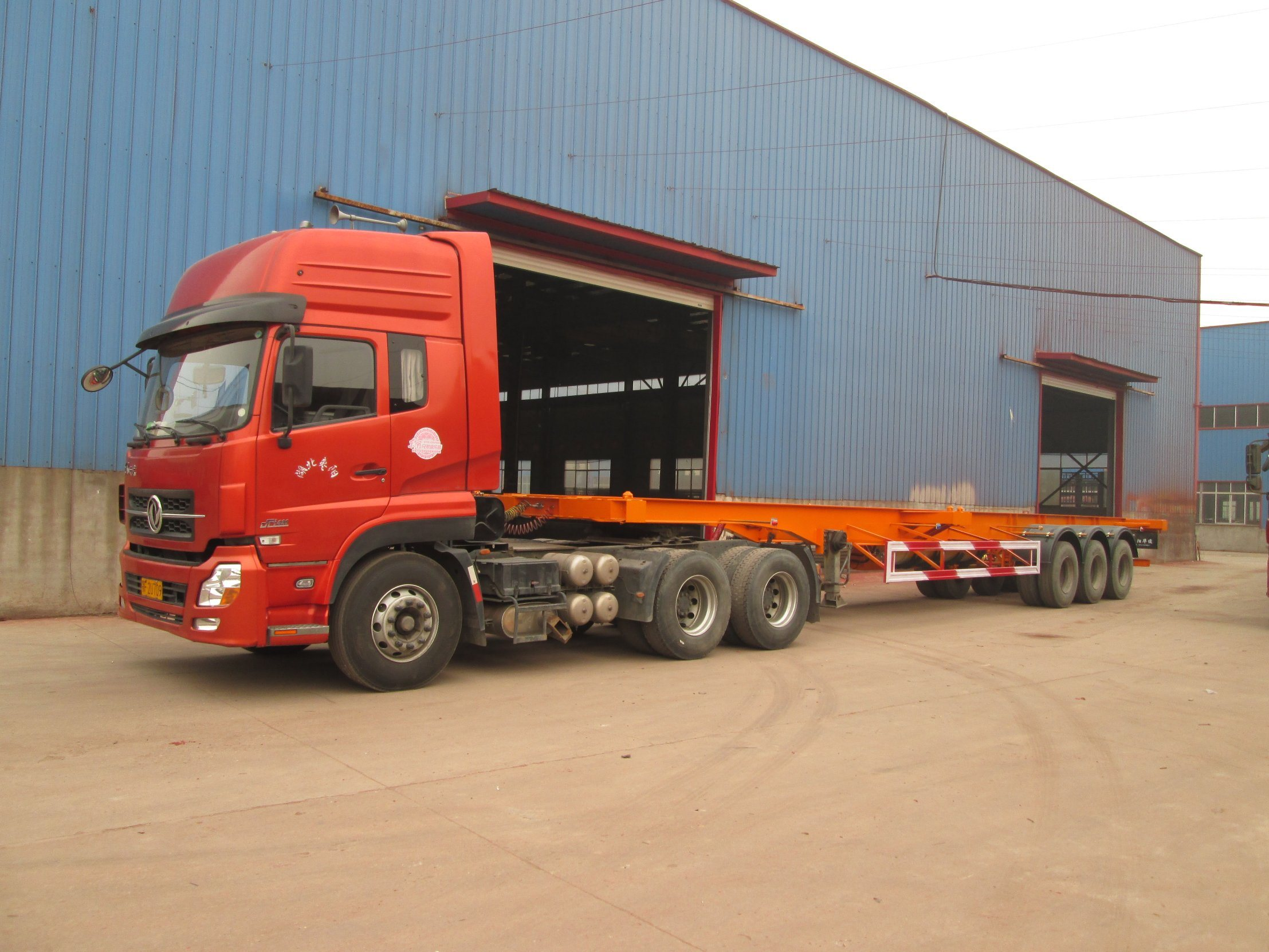 20 Feet Container Truck Semitrailer