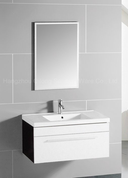 MDF Vanity with Ceramic Basin in Bathroom