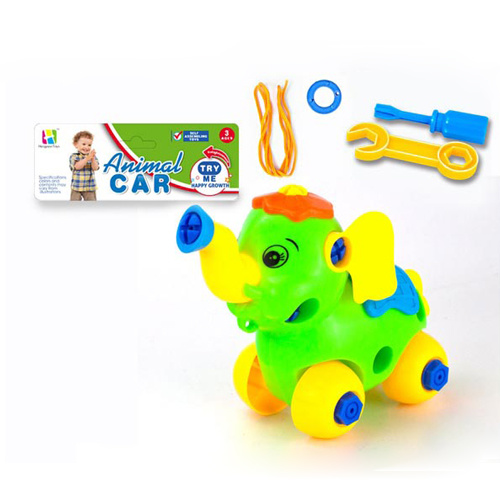 Self Assembly Cartoon Animal for Kids with Pull Line (H9810104)