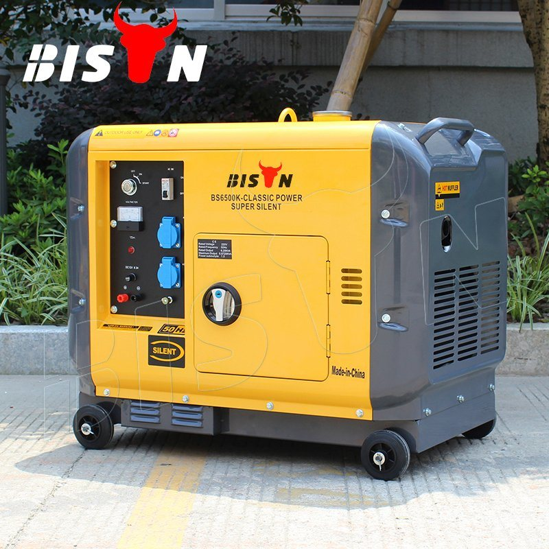 Bison (China) AC Single Phase Reliable Home Use Portable 3500 5500 6500 7500 Watt Silent Diesel Generator