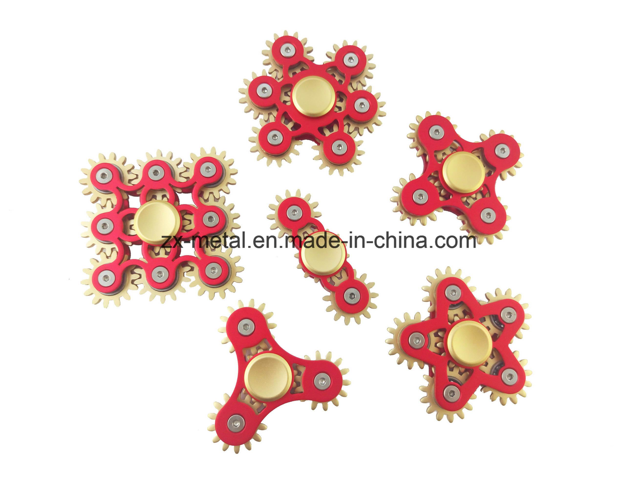 Multi Gear Linkage Aluminum Metal Hand Fidget Spinner Toys