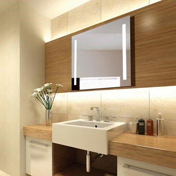 Fluorescent Wall Mounted LED Light Behind Bathroom Mirror Light