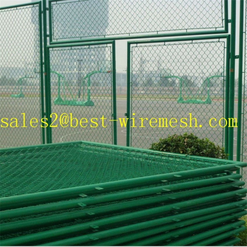 Basketball Stadium Chain Link Fencing/PVC Coated Chain Link Fence