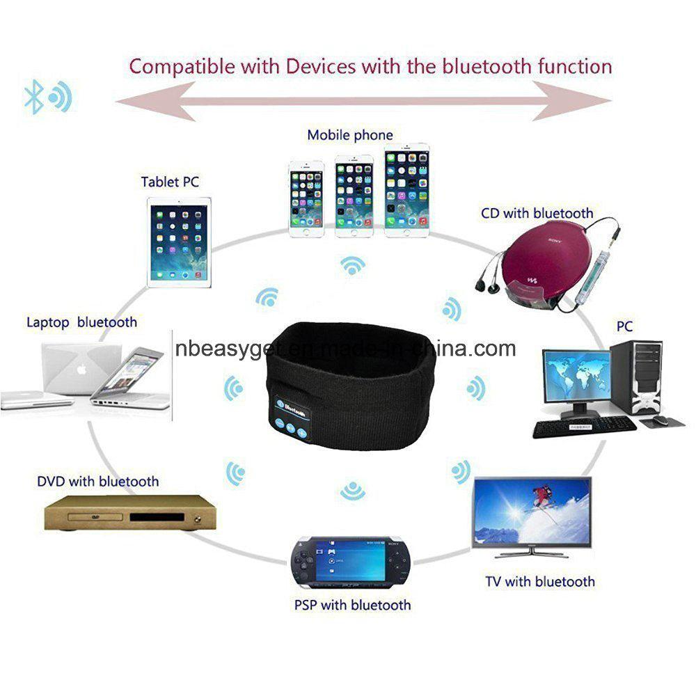 Bluetooth Music Headband, Wireless Bluetooth Stereo Headphones Headset Sport Headband Running Yoga Dancing Headband Grey Black Pink